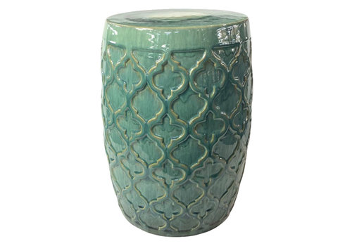 Fine Asianliving Keramik Hocker Gartenhocker Porzellan
