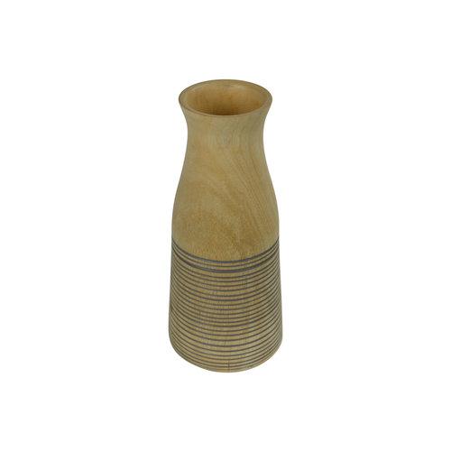 Decorative Vase Mangowood Handmade in Thailand Grey