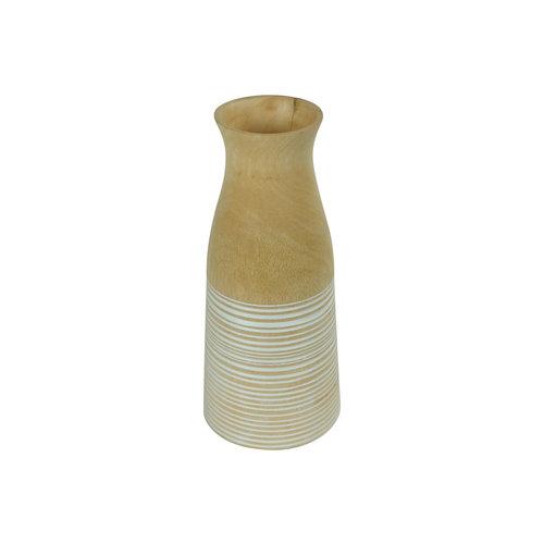 Decorative Vase Mangowood Handmade in Thailand White
