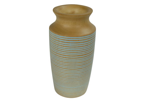 Fine Asianliving Decorative Vase Mango Wood Handmade in Thailand Blue