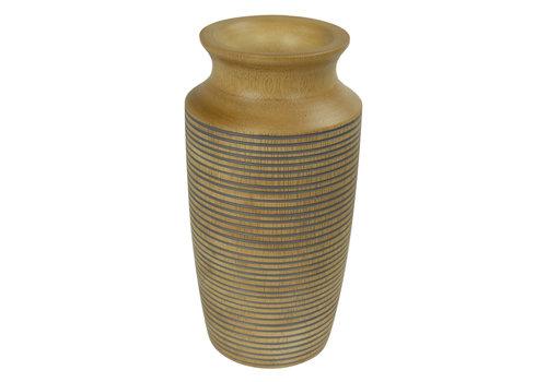 Fine Asianliving Decorative Vase Mango Wood Handmade in Thailand Grey