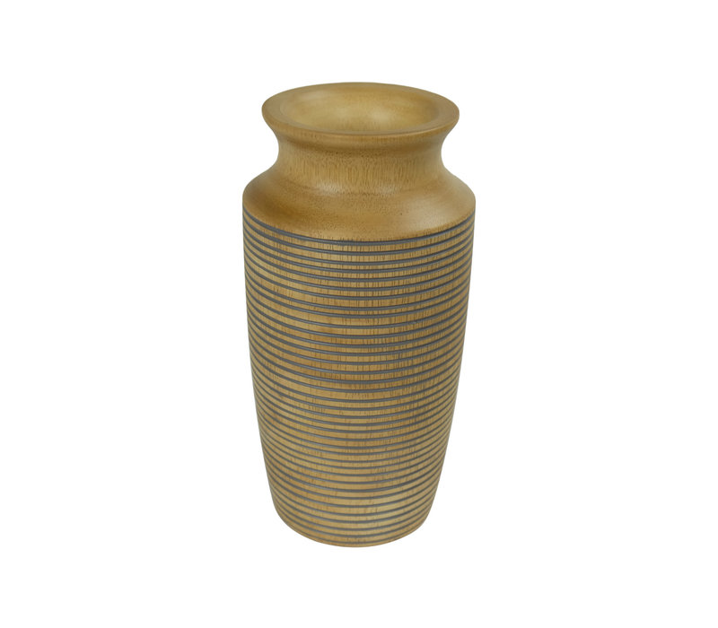 Decorative Vase Mangowood Handmade in Thailand Grey