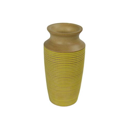 Decorative Vase Mangowood Handmade in Thailand Yellow