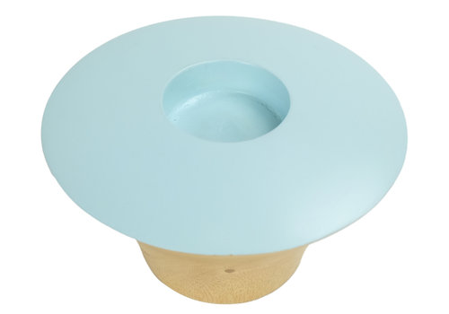 Fine Asianliving Candle Holder Mangowood Handmade in Thailand Blue