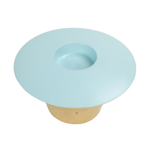 Candle Holder Mangowood Handmade in Thailand Blue