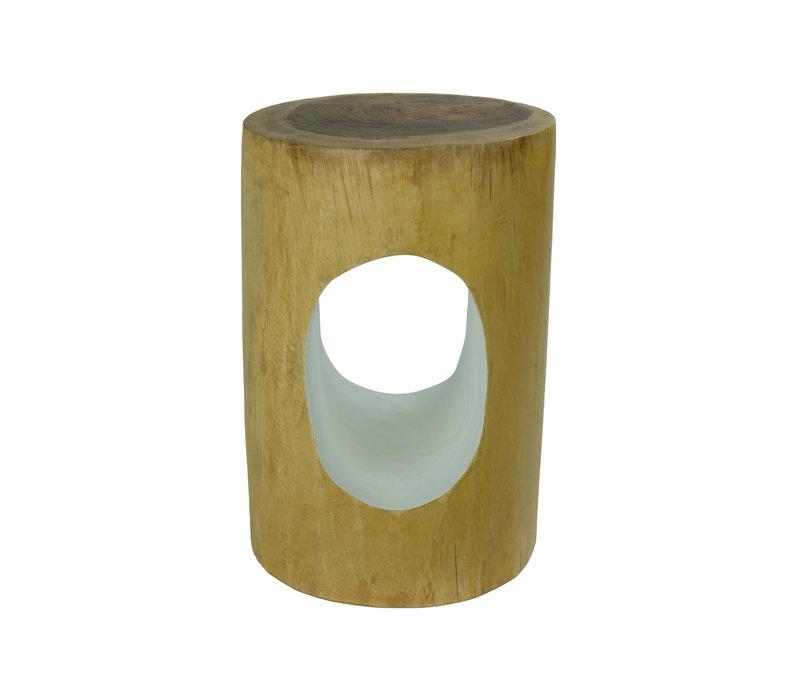 Hocker aus Mango Holz Hergestellt in Thailand Natural White