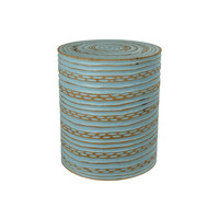 Hocker aus Mango Holz Hergestellt in Thailand Blau