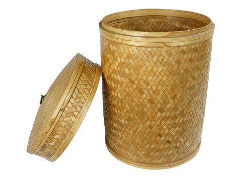 Fine Asianliving Caja de Almacenamiento de Yute Trenzado a Mano en Tailandia 40x60cm