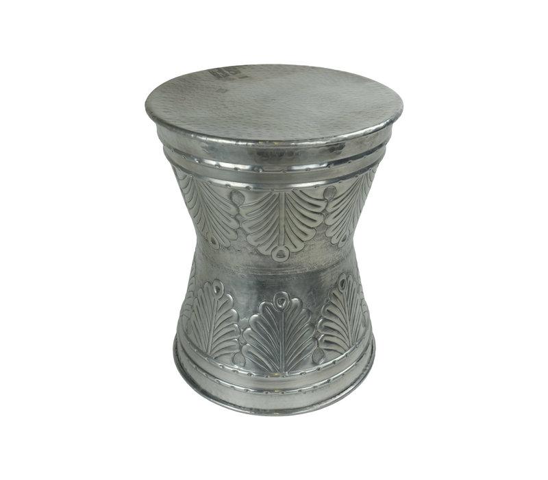 Indischer Couchtisch Metall Handgefertigt in Indien 38x38x47cm