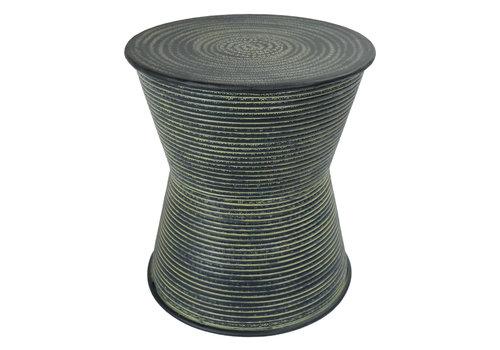 Fine Asianliving Indischer Couchtisch Metall Handgefertigt in Indien 35x35x40cm