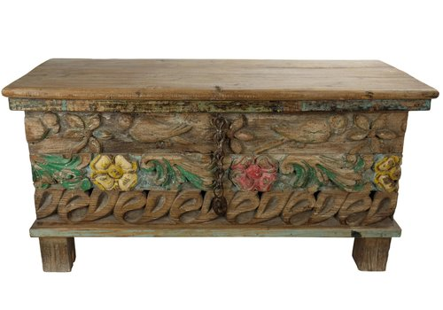 Fine Asianliving Wooden Indian Cabinet 88x36x44cm Handmade in India