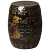 Fine Asianliving Fine Asianliving Ceramic Garden Stool Dragon Black B33*H45cm