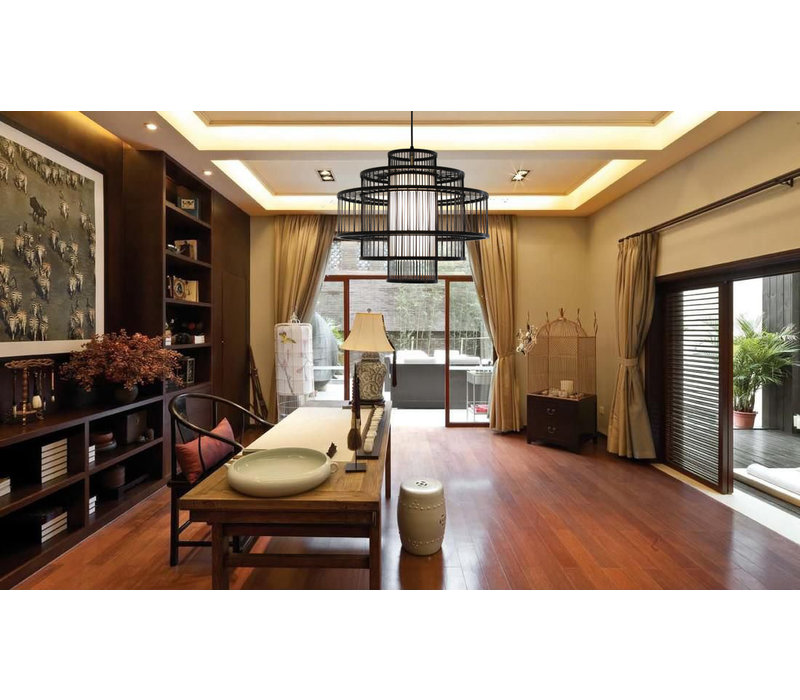 Fine Asianliving Ceiling Light Pendant Lighting Bamboo Lampshade Handmade - Leonard