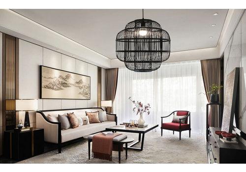 Fine Asianliving Bamboo Pendant Lamp Ceiling Lighting Handmade - Ethan