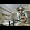 Fine Asianliving Lámpara de Techo Colgante de Bambú Hecha a Mano - Nicholas