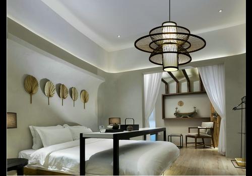 Fine Asianliving Deckenleuchte Pendelleuchte Beleuchtung Bambus Lampenschirm Handgefertigt - Nicholas