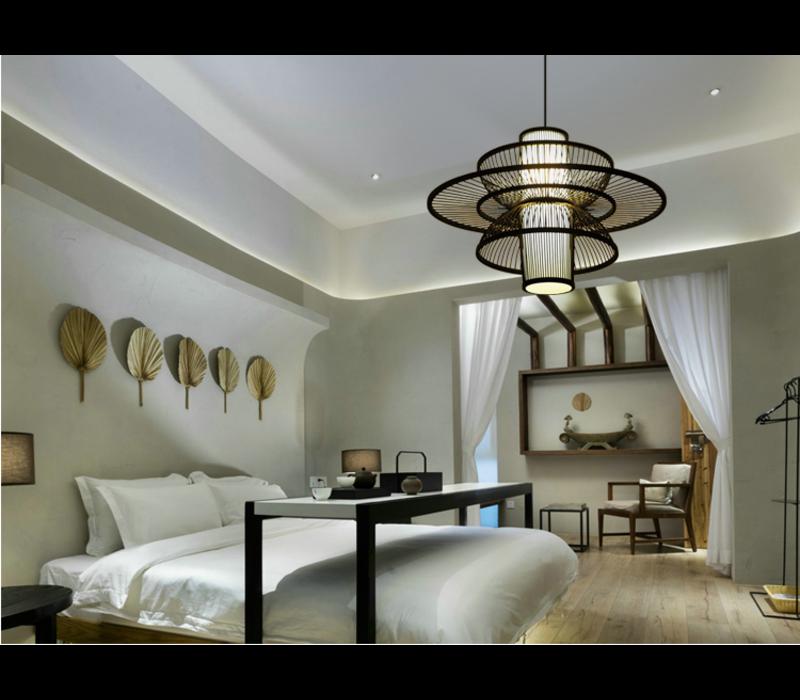 Fine Asianliving Lampara de techo Bambú Lampara Colgante Hecho a mano - Nicholas