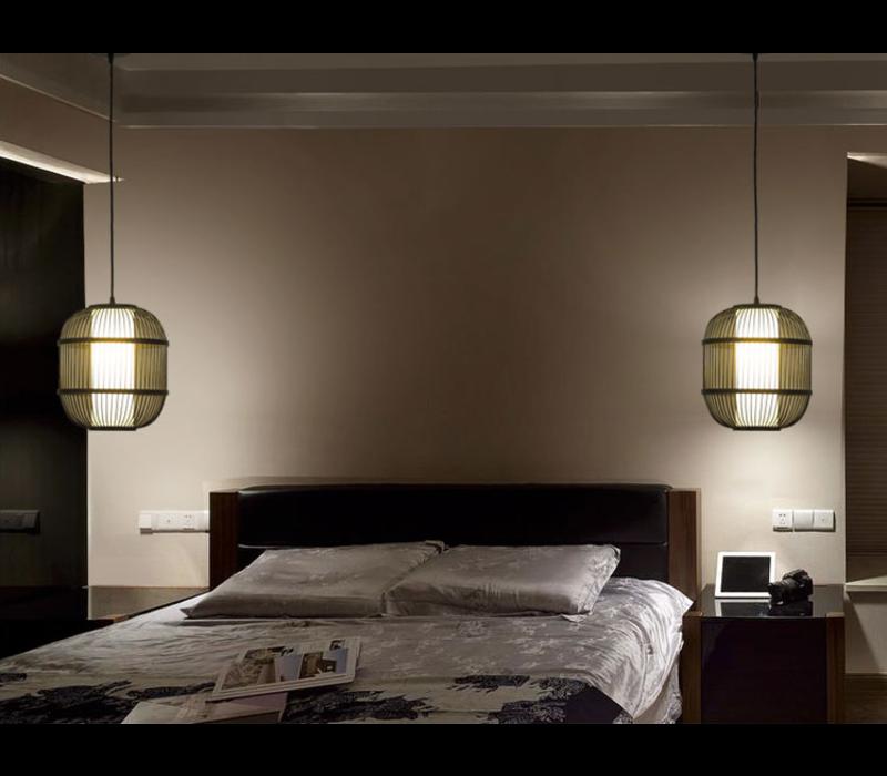 Fine Asianliving Plafonnier Luminaire Luminaire Abat-Jour Bambou Fait Main - Dylan
