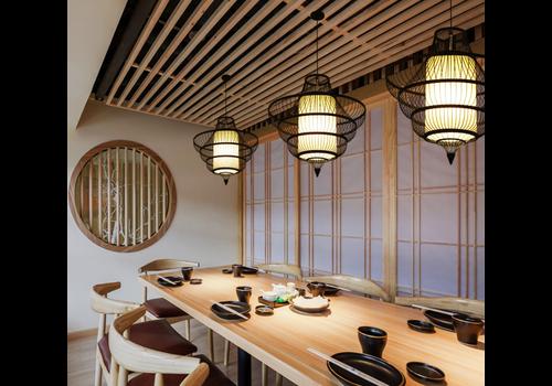 Fine Asianliving Deckenleuchte Pendelleuchte Beleuchtung Bambus Lampenschirm Handgefertigt - Julian