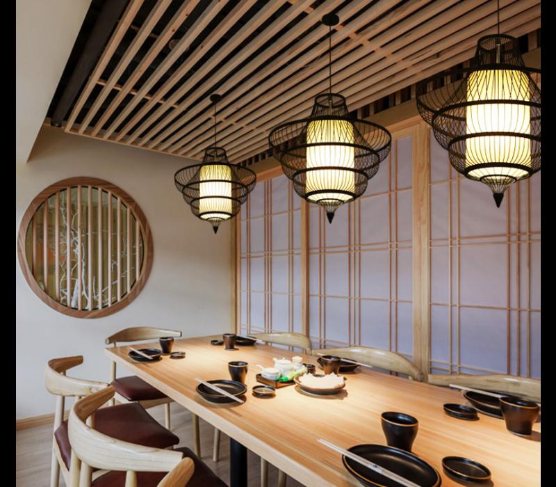 Fine Asianliving Ceiling Light Pendant Lighting Bamboo Lampshade Handmade - Jessie