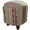 Fine Asianliving Indian Pouf Ottoman Handmade Stool Durry Strep 41x41x41cm