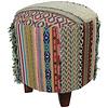 Fine Asianliving Pouf Contenitore Ottomano Poggiapiedi Indiano Corpertura Removibile Fatto a Mano 41x41x41cm