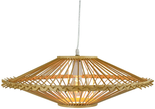Fine Asianliving Ceiling Light Bamboo Lampshade Handmade - Zoe