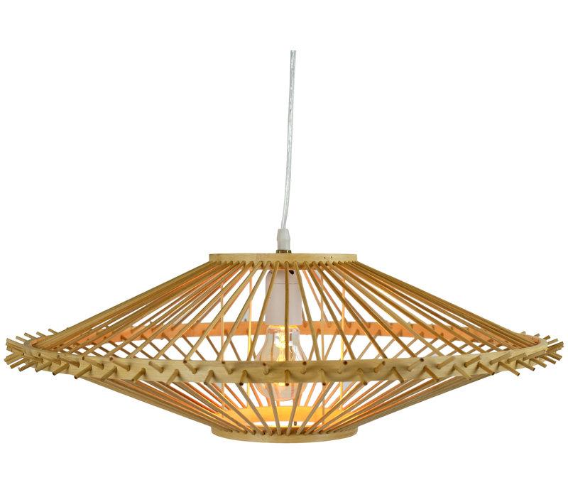 Bamboo Pendant Light Lampshade Handmade - Zoe