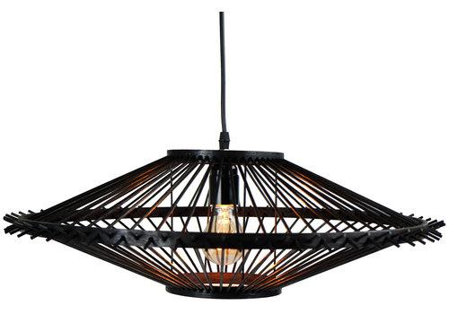 Fine Asianliving Bamboe Hanglamp Handgemaakt Zwart - Liam