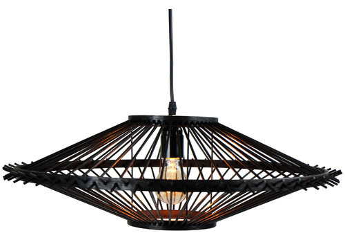 Fine Asianliving Deckenleuchte Bambus Lampe Handgefertigt - Liam