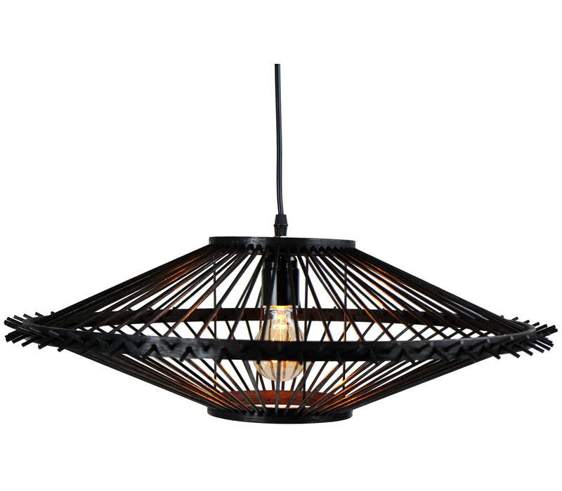 Bamboe Hanglamp Handgemaakt Zwart - Liam