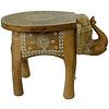 Fine Asianliving Elefantenhocker Holz Mosaik Hergestellt in Indien 35x44x36cm
