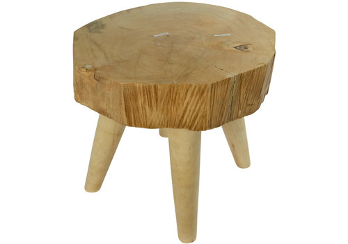 Fine Asianliving Side Table Solid Mango Wood Handmade in Thailand Natural