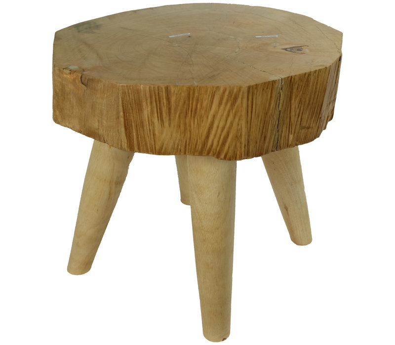 Table Solid Mangowood Handmade in Thailand Natural