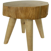 Table Solid Mango Wood Handmade in Thailand Natural