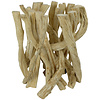 Fine Asianliving Wooden Coffee Table Solid Lianas Branches with Glass Table Top L35xH45cm