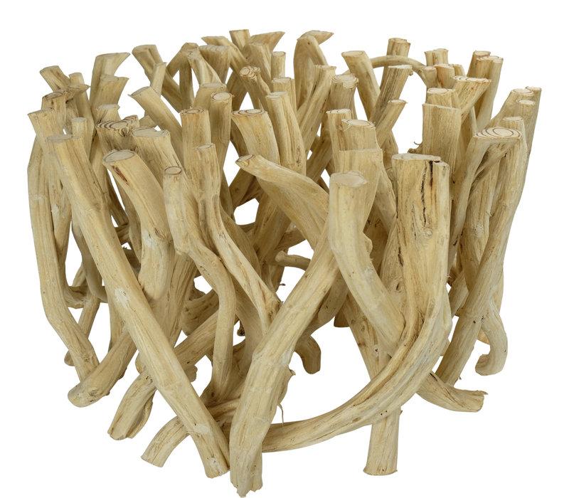 Couchtisch Holz Lianenzweige B80xH45cm