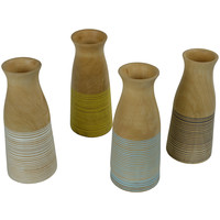Decorative Vase Mangowood Handmade in Thailand White