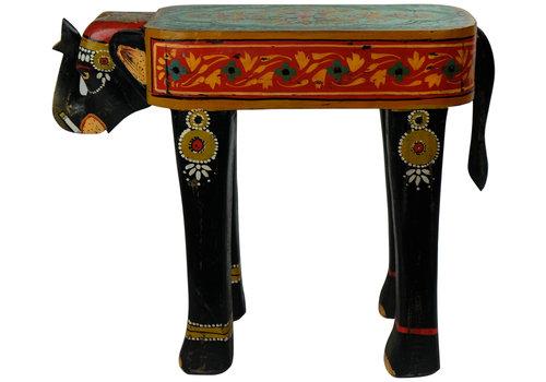 Fine Asianliving Taburete de Madera Elefante Hecho a Mano en la India 26x58x47 cm