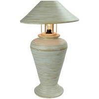 Bamboo Table Lamp Spiral Handmade White 40x40x65cm