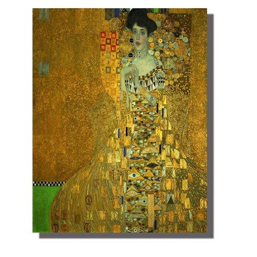 Wall Art Canvas Print 70x90cm Adele Block-Bauer Gustav Klimt Hand Embellished Giclee Handmade