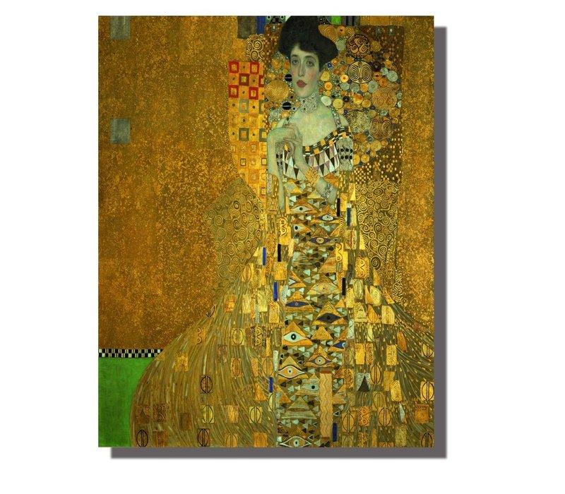 Tableau sur Toile Gustav Klimt Portrait d'Adele Bloch-Bauer Giclée et Embelli à la Main L70xH90cm