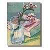Fine Asianliving Tableau sur Toile Vincent van Gogh Branche d'Amandier en Fleurs Giclée et Embelli à la Main L70xH90cm