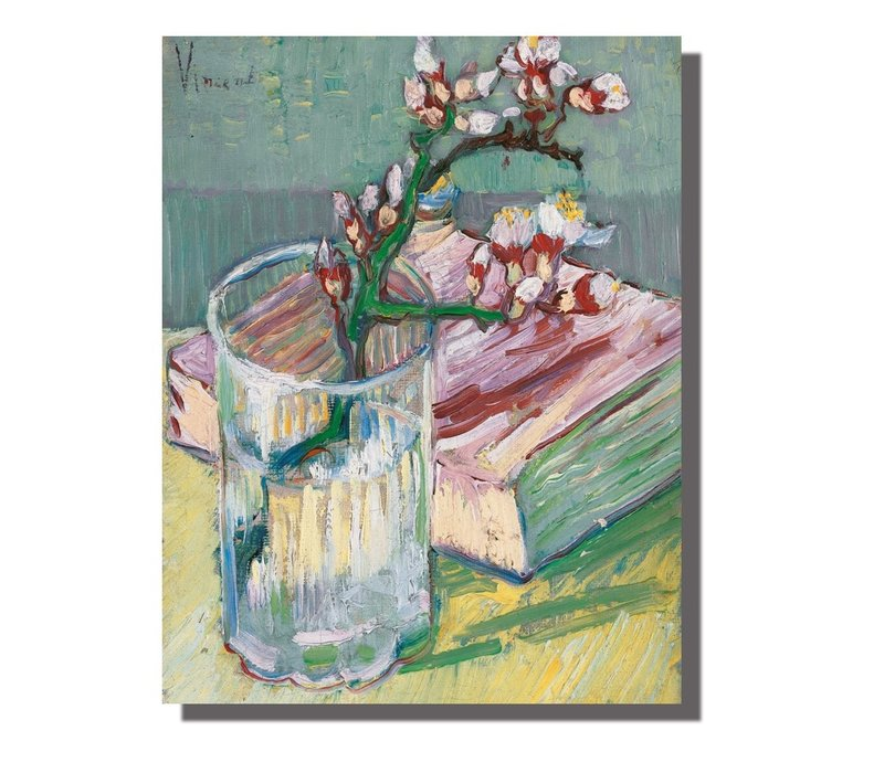 Schilderij Wall Art Canvas Print 70x90cm Blossoms van Gogh Hand Embellished Giclee Handmade