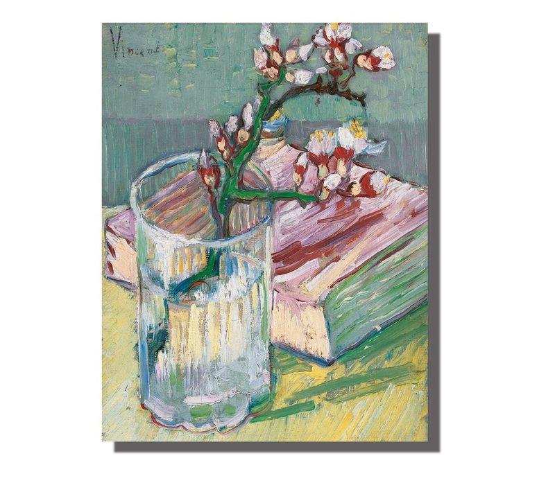 Tableau sur Toile Vincent van Gogh Branche d'Amandier en Fleurs Giclée et Embelli à la Main L70xH90cm