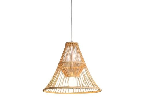 Fine Asianliving Ceiling Light Bamboo Lampshade Handmade - Maycee