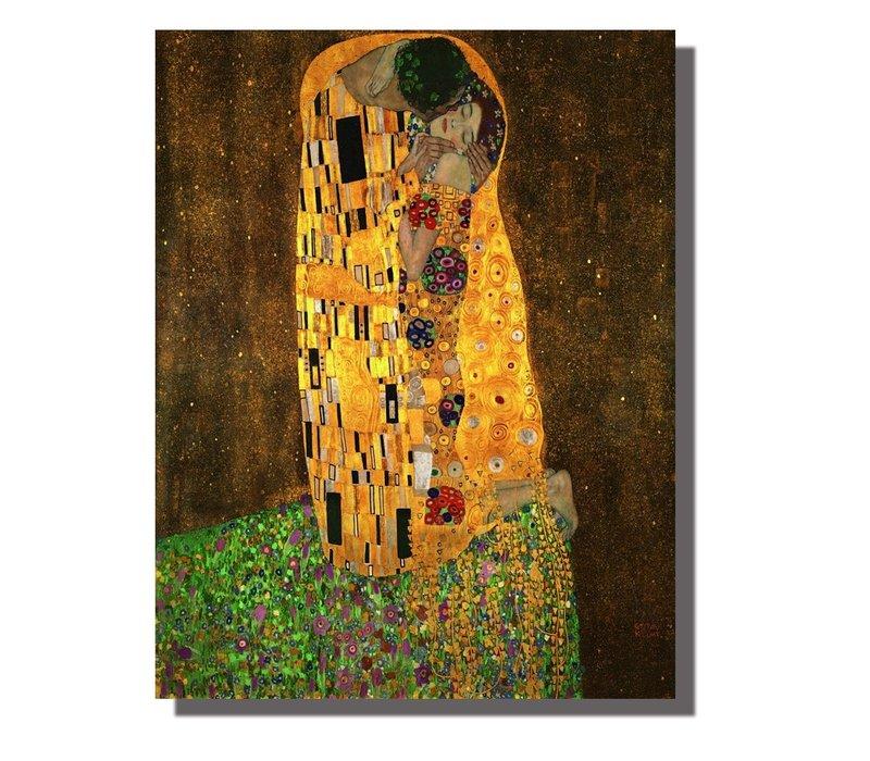 Schilderij Wall Art Canvas Print 70x90cm De Kus Gustav Klimt Handgemaakt Giclee