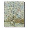 Fine Asianliving Tableau sur Toile Vincent van Gogh Pêcher en Fleur Giclée et Embelli à la Main L70xH90cm
