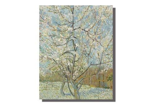 Fine Asianliving Schilderij Wall Art Canvas Print 70x90cm Perzik Boom van Gogh Handgemaakt Giclee