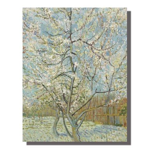 Wall Art Canvas Print 70x90cm Peach Tree van Gogh Hand Embellished Giclee Handmade